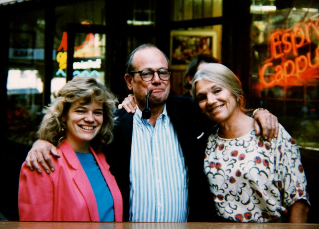 Faith, right, with daughter Maria and husband Jim, in 1992